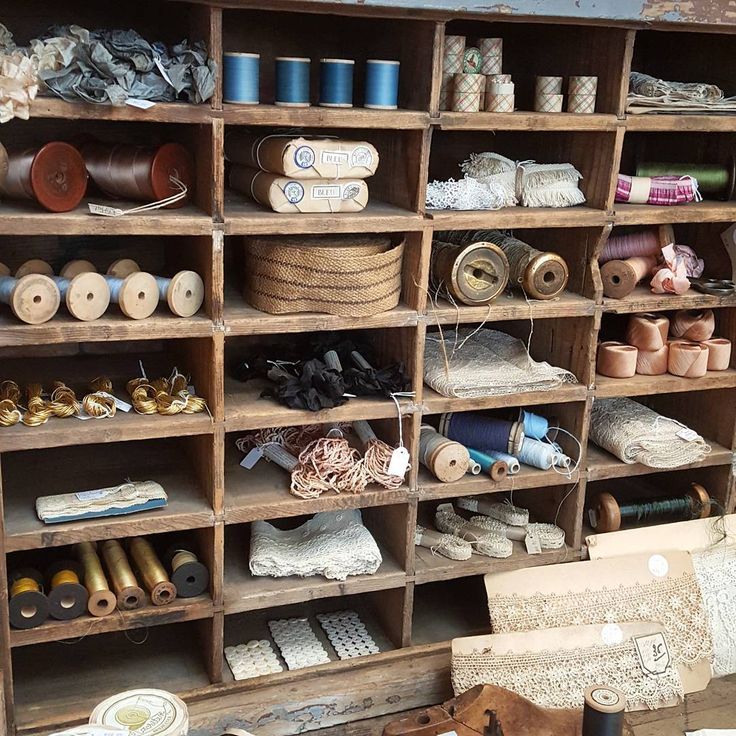 Restock of our vintage haberdashery section today , lots of beautiful new trims, threads and bobbins from France!