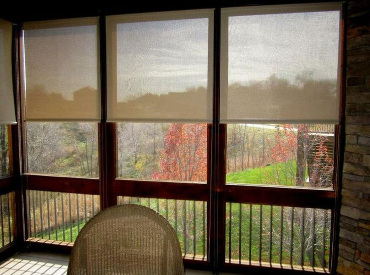 123 best roller shades images on pinterest sunroom for Budget blinds motorized shades