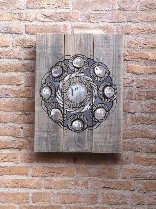 Zeeuwse knop op oud hout. Made by me.