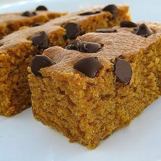 Chocolate chip pumpkin bars