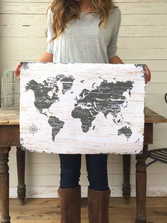 Old World Map World Map Art World Map Print Old by honeywoodhome