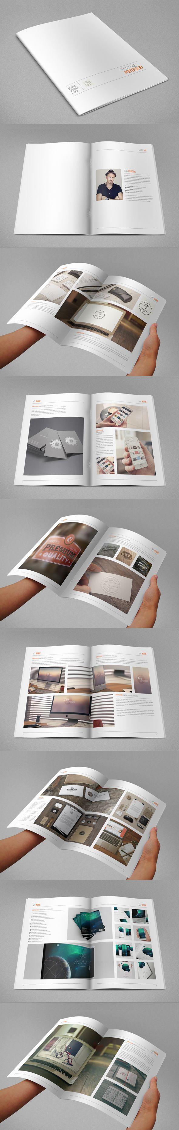 Minimal Hipster Design Portfolio 2 by Abra Design, via Behance