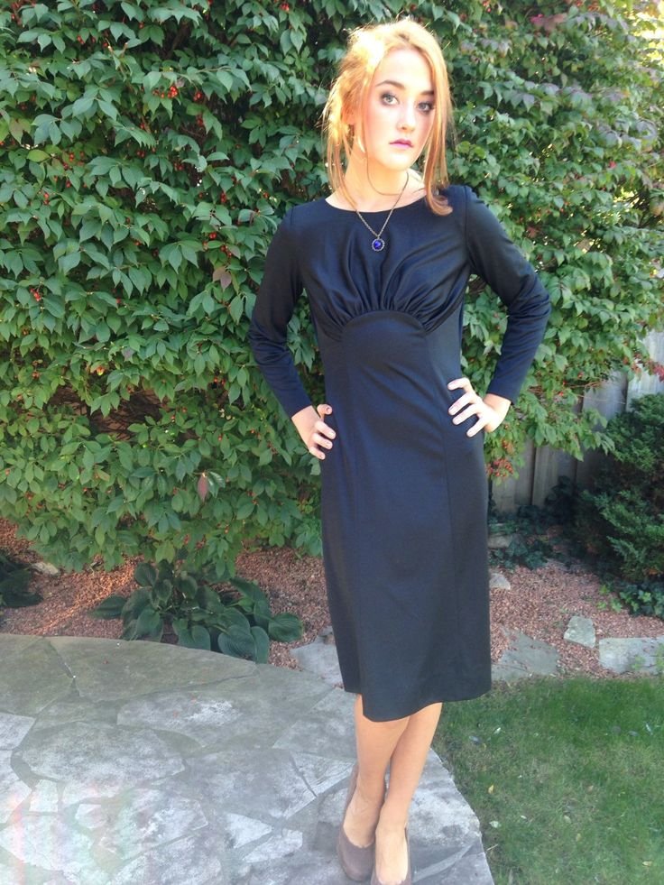 A personal favorite from my Etsy shop https://www.etsy.com/ca/listing/258109229/vintage-70s-black-dress-film-noir-40s