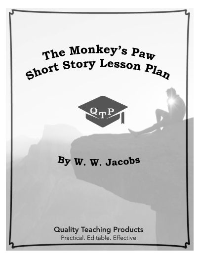 """Great editable classroom materials @teachersherpa This is a complete lesson pack for the short story """"The Monkey's Paw"""" by W. W. Jacobs, which includes worksheets and activities. All of the documents are alterable so that you can tailor them for your purposes. Also, all of the graphic organizers can be used for any literary piece. All of the worksheets are MS Word and .pdf files. These materials do not require any prep and can be used as an emergency lesson for a sub."""