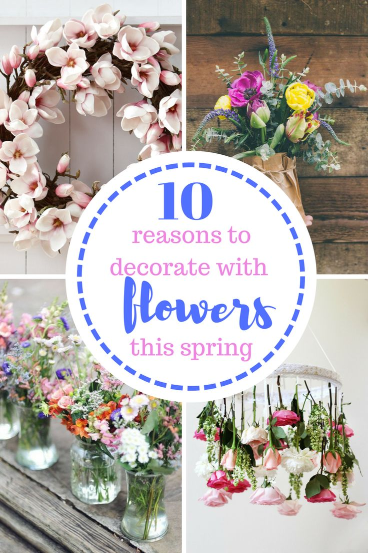Flowers, Spring, Decorating With Flowers, How to Decorate With Flowers, Spring, Spring Decor, Spring Home Decor, Easter, DIY Easter, DIY Easter Decor