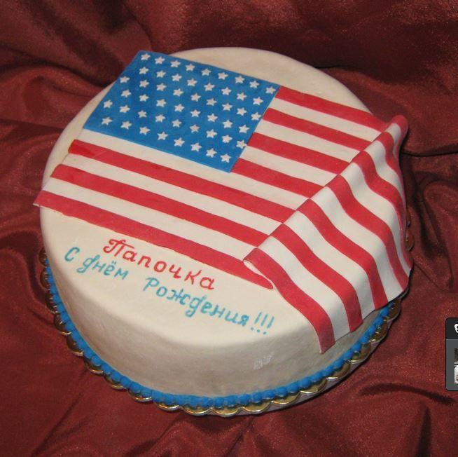 торт с американским флагом