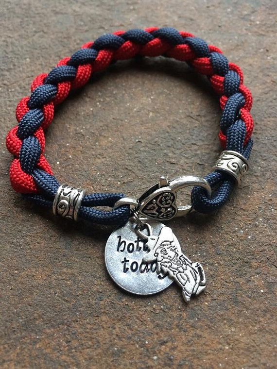 Ole Miss bracelet by BayouCordCreations on Etsy