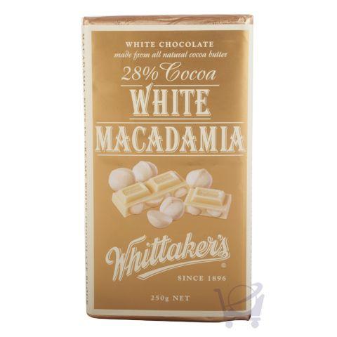 White Macadamia Chocolate Block – Whittaker's 250 g | Shop New Zealand