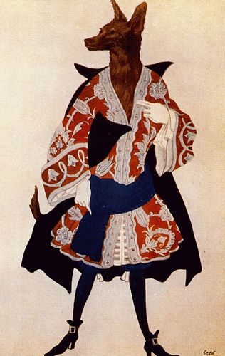 Wolf costume by Leon Bakst Or is it just a wolf in gentleman's clothing?