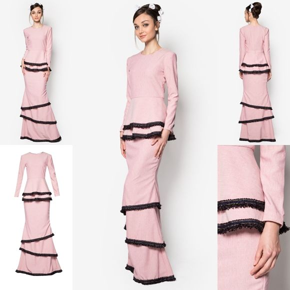 51 Best Images About Fashion Baju Kurung On Pinterest Lace Divas And Scallops