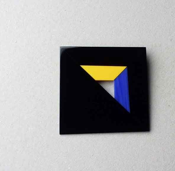 Stanislava Grebenickova  - glass jewelry - brooch 1999