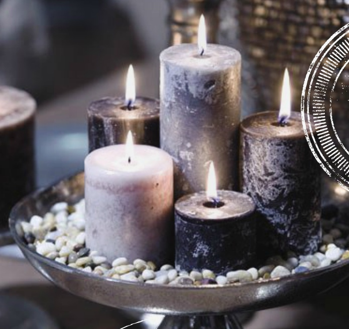 Candle display | Fragrance display | Silver | Chic | Elegant | Gorgeous | Holiday | Seasonal  Display