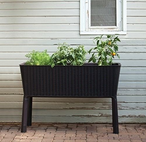 Patio-Garden-Flower-Plant-Planter-Raised-Elevated-Garden-Bed-Brown-NEW-BRAND