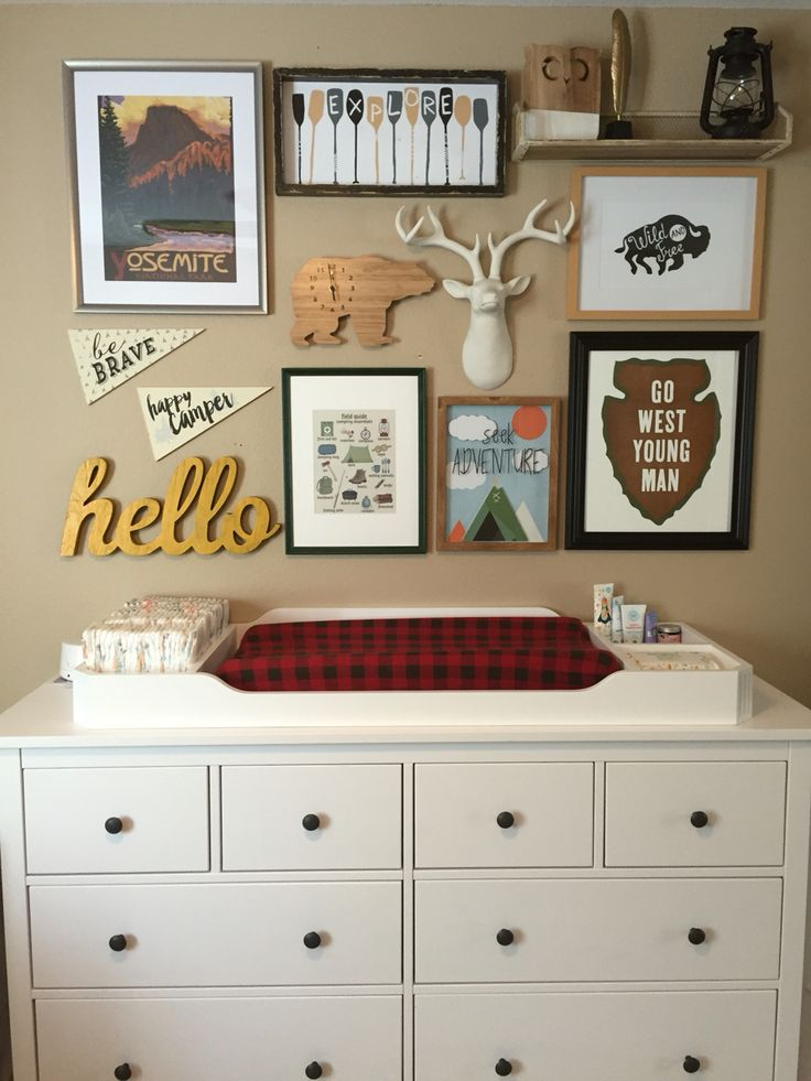 Vintage camping nursery / bedroom decor