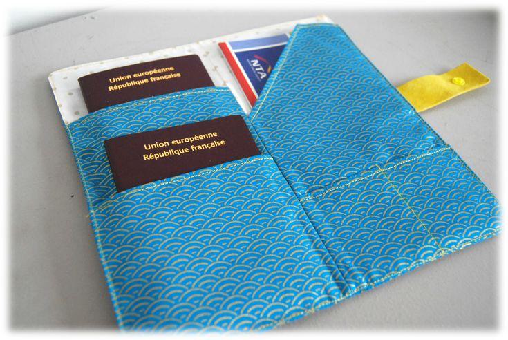 Tuto pochette porte passeport et billet d'avion / compagnon de voyage