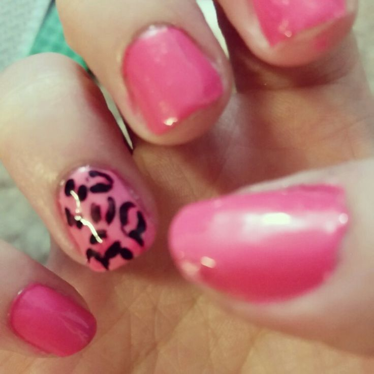 Cheetah nails!