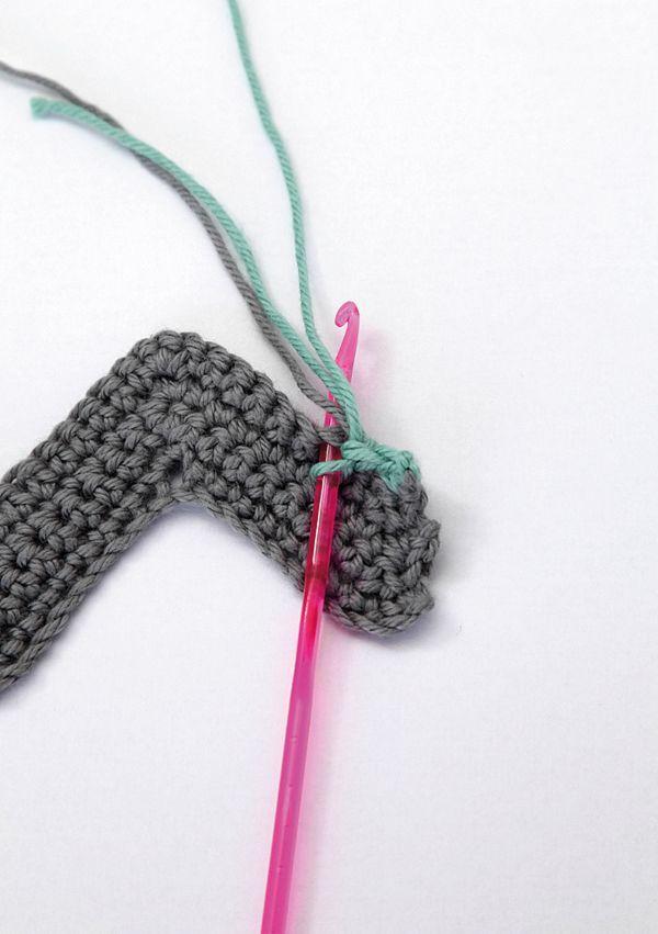 Chevron crochet cushion pattern step 8   Mollie Makes