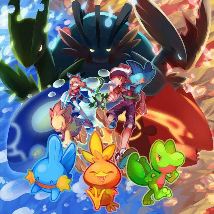 Hoenn Starters and Mega Evolutions!