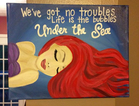 Under the sea little mermaid painting on Etsy, $30.00