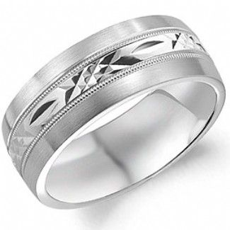 Crown Ring - Collections Wedding Bands Carved Wb 7012 M10