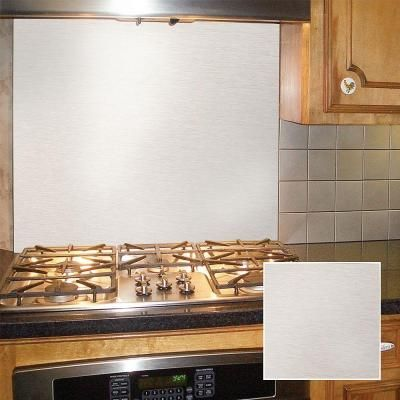 Frigo Design 36 in. x 30 in. Polished Stainless Steel Backsplash-HS3630SS - The Home Depot