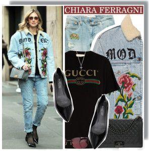 Chiara Ferragni rocking her boyfriend's jeans