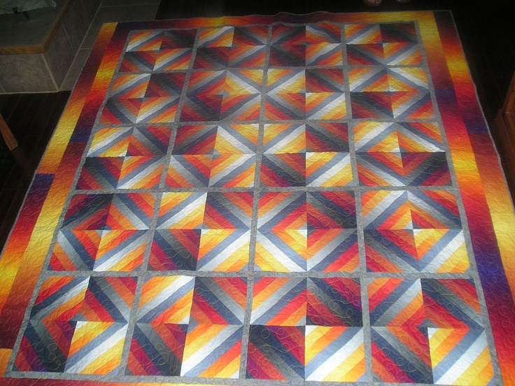 17 Best Images About Ombre Quilt On Pinterest Triangle