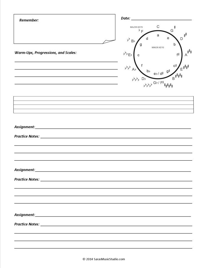 Best Free Music Assignment Sheets Images On