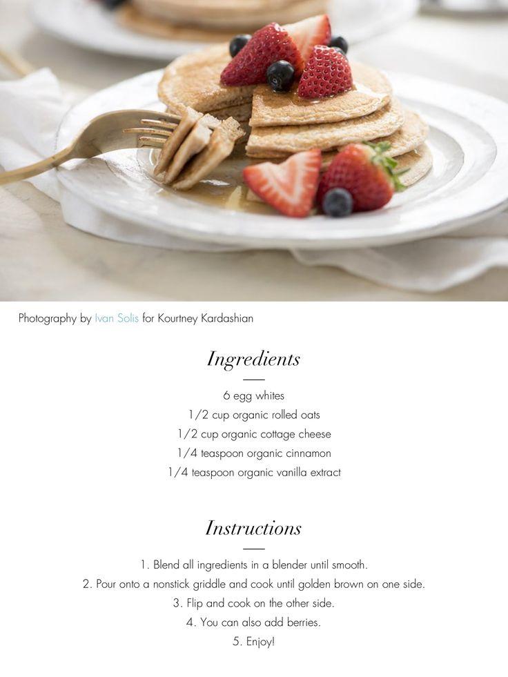 Protein Pancakes - Kourtney Kardashian                                                                                                                                                     More