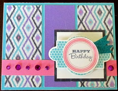 Create with Alyson: Female Birthday Card