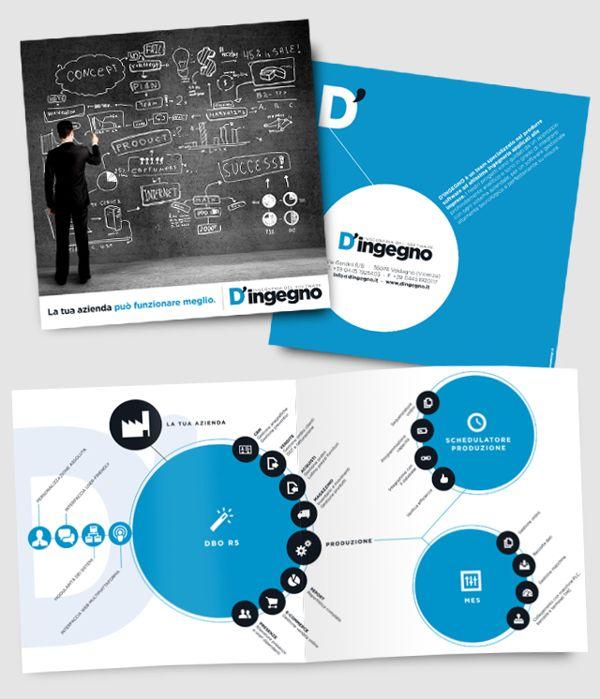 D'ingegno [BROCHURE+INFOGRAPHIC] by Onice Design, via Behance