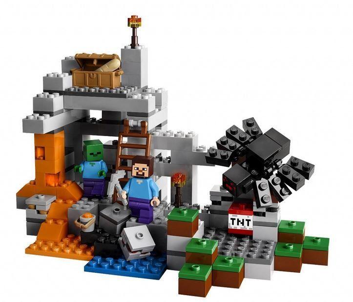 LEGO Minecraft 21113 Jeskyně Vydej se do jeskyně Minecraft na nebezpečnou výpravu za životně důležitými zdroji!