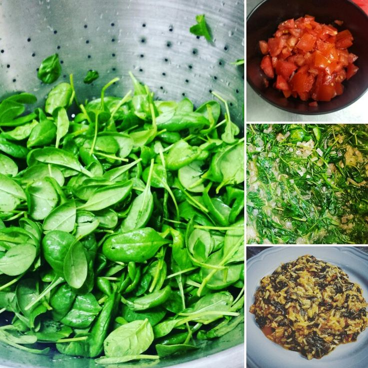 #spinach_rice #cook #cooking #homemade #green #spinach #rice  # tomato