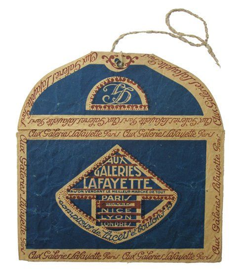Galeries Lafayette is still a grande dame of a department store, but in the 1920s it was even grander than that. It was the centre of fashionability. This envelope is from around that period..