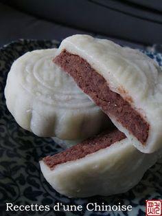 Recettes d'une Chinoise: Gâteau de lune glacé de haricots rouges azuki 红豆冰皮月饼 hóngdòu bīngpí yuèbing