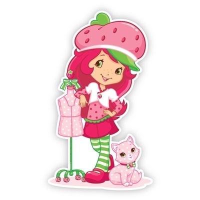 Strawberry Shortcake Wall Graphics from Walls 360: Strawberry Shortcake with Cupcake and Dress Form