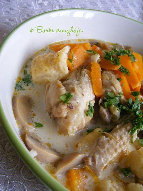 Barbi konyhája: Csirkeszárnyas, tejszínes raguleves
