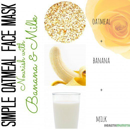 Combine oatmeal, banana and honey for a nourishing face mask that will hydrate cells and boost skin tone.