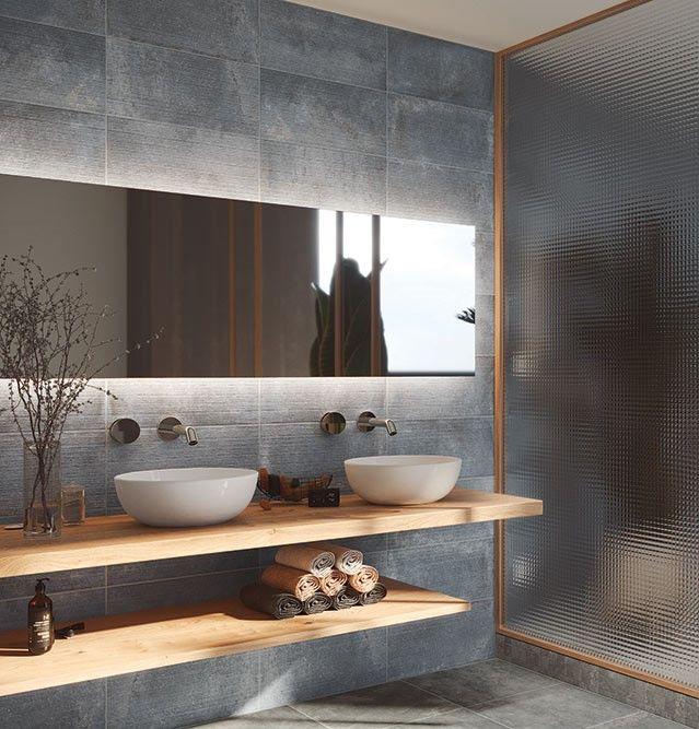 Deparisa Porcelain Ceramic Tile Cement Look Tile Best Tile In 2021 Bathroom Cladding Cement Bathroom Bathroom Makeover Ceramic pictures for the bathroom