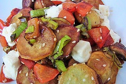 Bratkartoffeln, griechische Art, ein leckeres Rezept aus der Kategorie Gemüse. Bewertungen: 91. Durchschnitt: Ø 4,2.