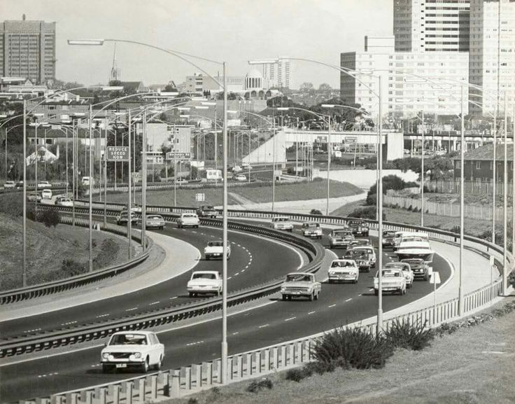 How was the trip home tonight? As good as this? Tullamarine Freeway, 1975. Photographer: James O Nicholls. End of the Freeway looking towards North Melbourne and Flemington. State Library of Victoria Image H2000.52/19