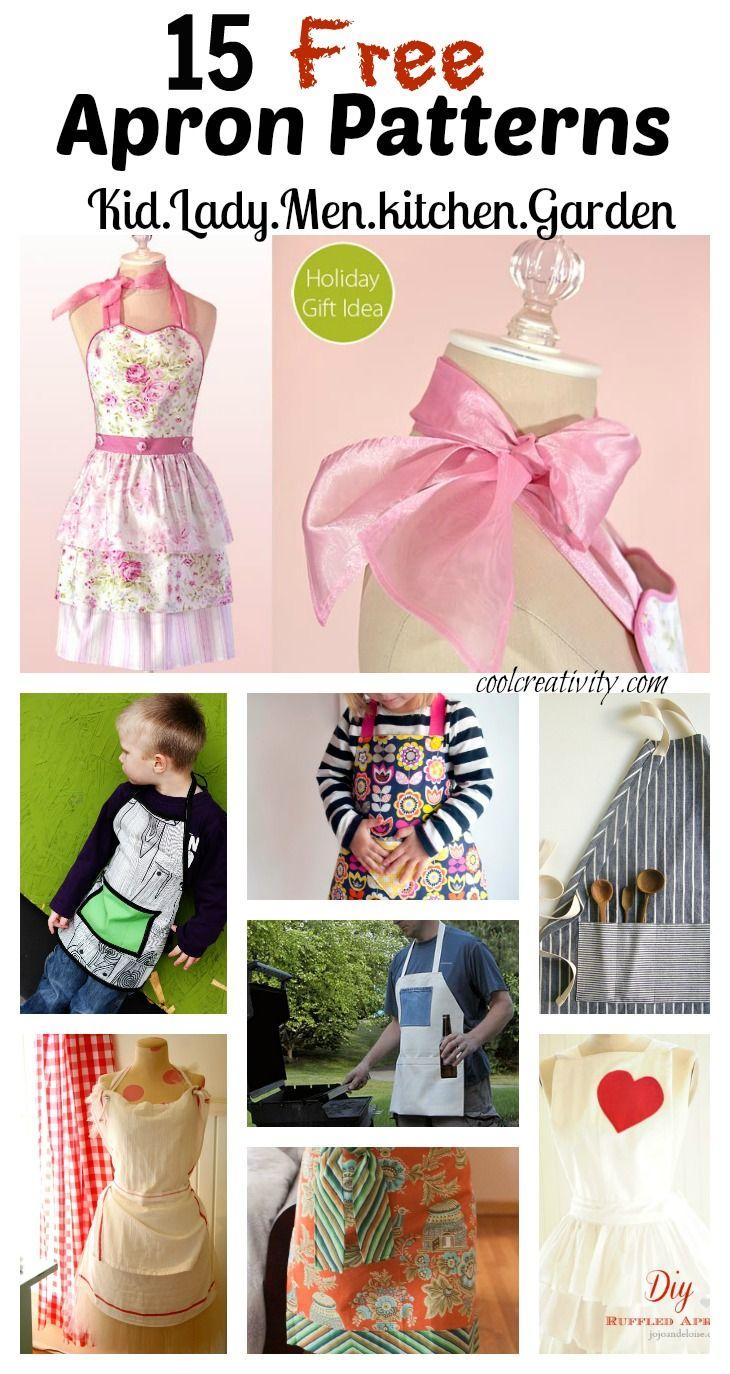15 DIY Apron Sewing Free Patterns. #Sewing #Pattern #Apron