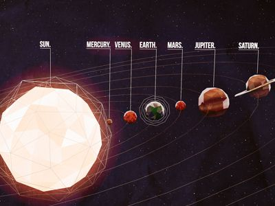 Dribbble - Low Poly Space by Scott Ulliman