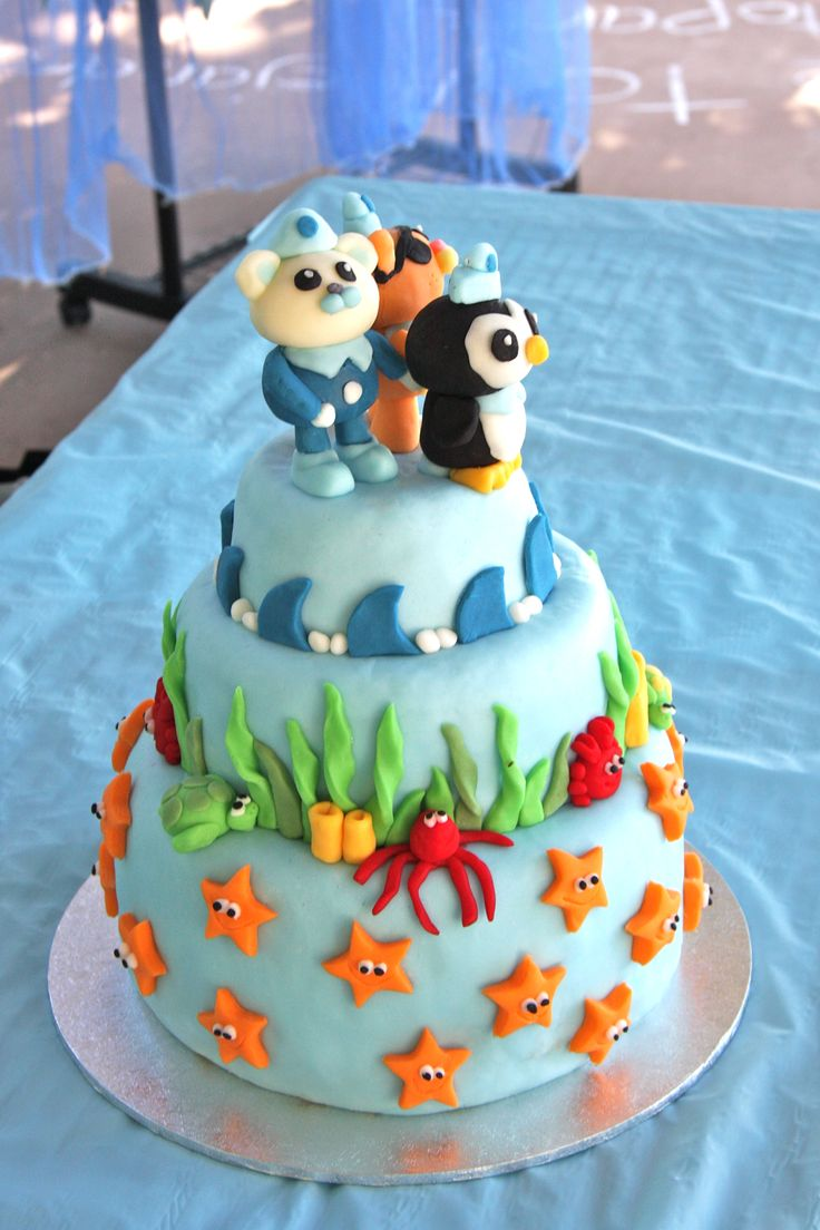 Octonauts cake I made for my son's 5th birthday party, yesterday.