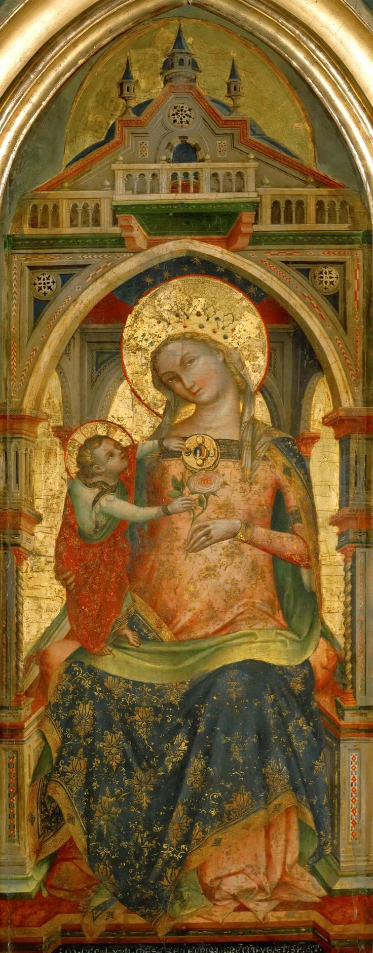 Lorenzo Veneziano - Madonna and Child