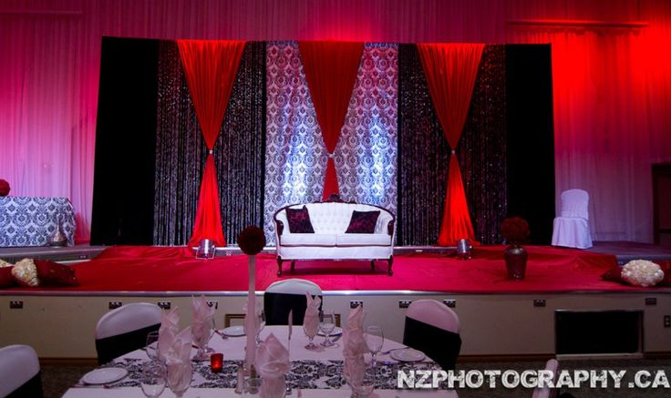 Black White Amp Red Stage By Design And Decor Phot Credit