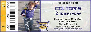LSU Baseball Ticket Birthday Invitation Digital File 5x7 Any Occasion MLB | eBay