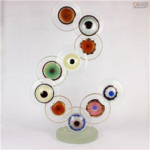 Occhi della Divinità - Il Segno - Scultura Vetro di Murano