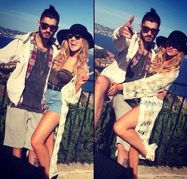 Zayn and Perrie in France