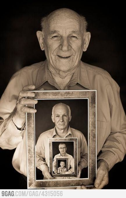 Generations Photo for a Father's Day Gift #dad #grandpa by Marisan